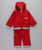 Kushies Cherry Rain Jacket & Pants - Infant