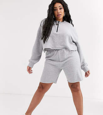 Public Desire Curve sweat shorts with contrast drawcord two-piece