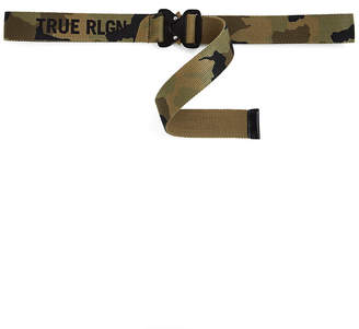 True Religion CAMO CANVAS BELT