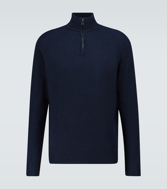 Derek Rose Cashmere half-zipped sweater