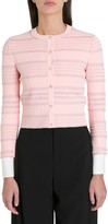 Alexander McQueen Textured Knit Mini Cardigan With Embossed Details