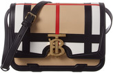 Burberry Small Tb Vintage Check & Leather Shoulder Bag