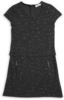 Dex Zipper Accented Popover Dress