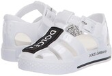 Dolce & Gabbana Sandalo Beachwear Pvc+Stampa L (Infant/Toddler/Little Kid) (Bianco) Kid's Shoes