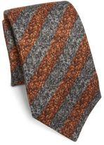 Isaia Striped Silk & Wool Tie
