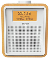 Bush Wooden DAB Clock Radio