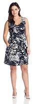J Valdi Women's Plus-Size Scoop Pocket Cover Up Dress