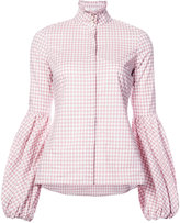 Caroline Constas checkered shirt
