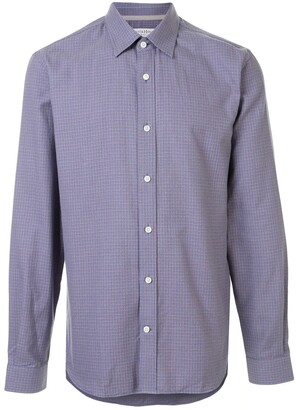 Gieves & Hawkes Micro-Check Long Sleeved Shirt