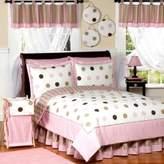 JoJo Designs Sweet Mod Dots 4-Piece Twin Comforter Set in Pink/Chocolate