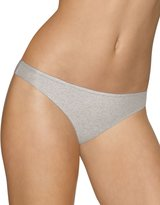 Barely There Cotton Stretch Tailored Thong, Heather Grey, Size