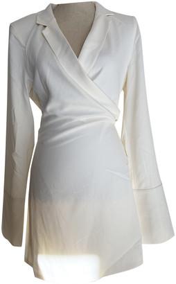 Orseund Iris White Polyester Dresses
