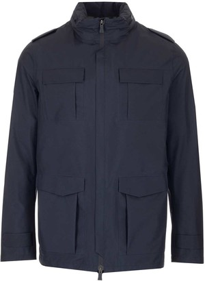 Herno Zipped Pocket Detail Jacket