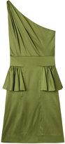 Cold Shoulder Silk Dress