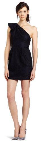 BCBGeneration Women's Shoulder Flounce Dress