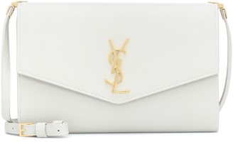 Saint Laurent Uptown Small leather clutch
