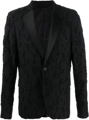 Diesel Black Gold distressed single-breasted blazer