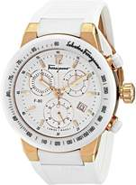 Salvatore Ferragamo Women's F55LCQ75101 S121 F-80 Gold IP and Ceramic Chronograph Watch
