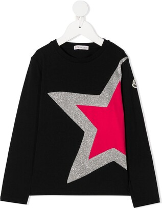 Moncler Enfant Star Print Top