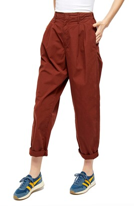BDG Drew Pleated Poplin Trousers