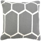 Aura Woven Hexagons 20-Inch Square Throw Pillow