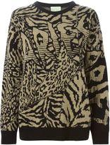 Aries intarsia knit sweater