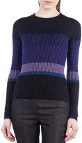 Akris Punto Colorblock Knit Crewneck Sweater