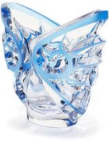 Lalique Tourbillons Oval Blue/Clear Vase