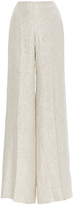 Oscar de la Renta Gold Silk Wide Legged Trousers