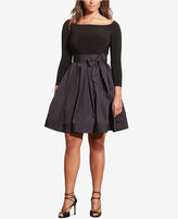 Lauren Ralph Lauren Plus Size Jersey-Taffeta Dress