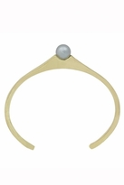 House Of Harlow Orb Cuff with Grey Pearl