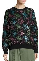 Marc Jacobs Embellished Long Sleeve Pullover