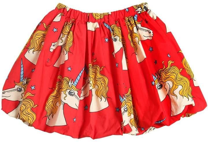 Mini Rodini Unicorns Organic Cotton Poplin Skirt