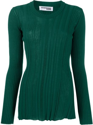 Courreges Ribbed Knit Jumper