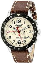 Ingersoll Unisex Automatic Watch with White Dial Analogue Display and Brown Leather Strap IN3224CR