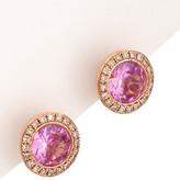 Diana M Fine Jewelry 14K Rose Gold 2.15 Ct. Tw. Diamond & Topaz Circular Studs