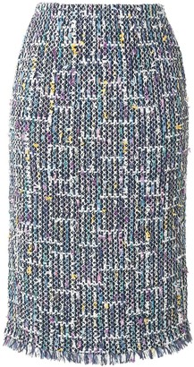 Coohem straight fitted tweed skirt