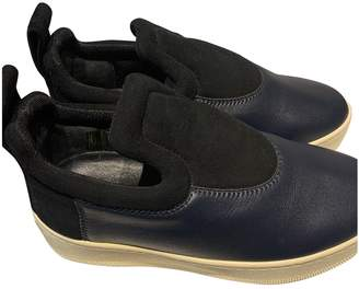 Celine Pull On Navy Leather Trainers