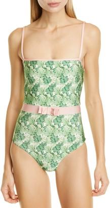Adriana Degreas Bow Waist One-Piece Swimsuit