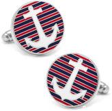 Asstd National Brand Striped Anchor Cuff Links