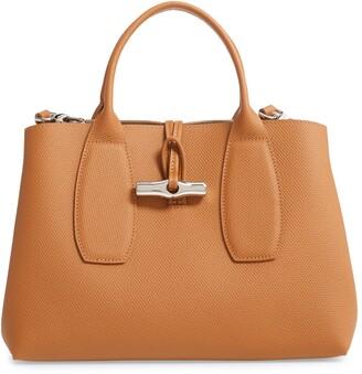 Longchamp Roseau Medium Leather Tote
