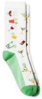 Merona Women's Fashion Crew Socks Summer Drinks Sour Cream One Size