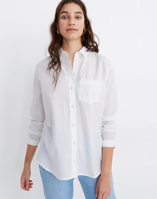 Madewell Poplin Oversized Ex-Boyfriend Shirt