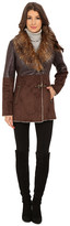 Jessica Simpson Faux Shearling with Faux Fur Collar