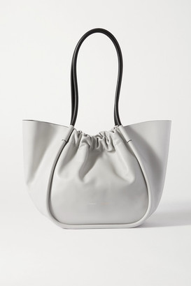 Proenza Schouler Ruched Leather Tote - Gray
