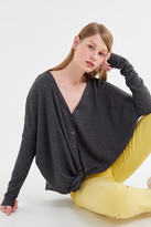 Out From Under Jojo Oversized Essential Thermal Button-Front Top