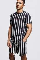 MAN Signature Stripe T-Shirt & Short Set