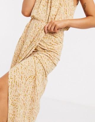 Pieces MaryJane high waisted floral maxi skirt