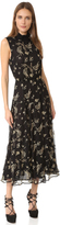 Suno Embroidered Ruffle Dress