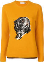Coach dog intarsia jumper